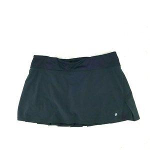 Lululemon Women Skort Athletic Size 10 Black 16-23